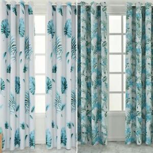 Details about Blackout Curtain Tropical Printed Drapes Curtain for Living  Room Bedroom Windows