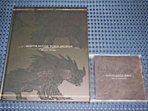 Monster-Hunter-World-Limited-ed-BONUS-Art-Book-amp-Music-Soundtrack-CD-no-PS4-game