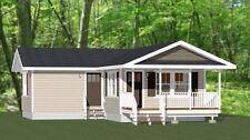 16x30 House -- 705 sq ft -- PDF Floor Plan -- Model 3E