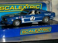 1:32 SLOT CAR FORD SCALEXTRIC HORNBY C3539 FORD MUSTANG BOSS 302 GURNEY TRANS AM