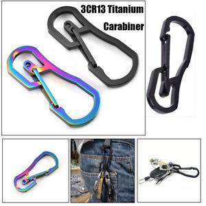 Titanium-Plating-Keychain-Holder-Key-Ring-Hook-Climbing-Carabiner-Camping-Clip