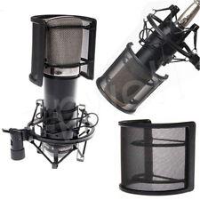Dual Layer Microphone Windscreen Pop Filter Mask Shield
