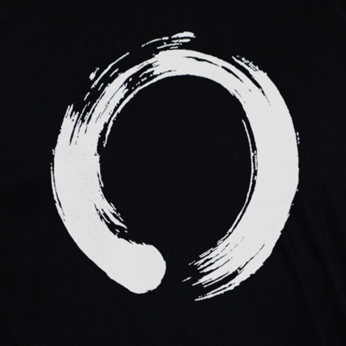 Enso Circle T shirt Zen Buddhism Printed Japanesse Graphic Calligraphy Tee