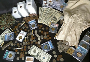 Estate-Lot-Sale-Old-US-Coins-GOLD-999-SILVER-CURRENCY-PROOF-SET-PCGS