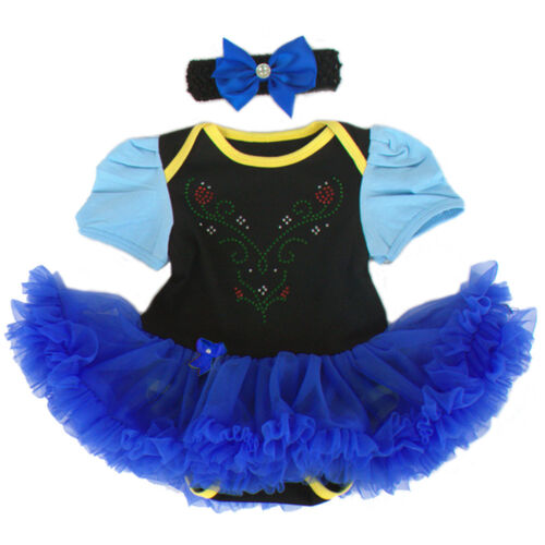 Newborn Baby Girl Floral Romper Tutu Dress Headband Outfits Toddler Kid Clothes