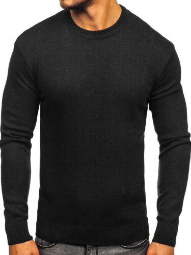Pullover Sweater Strickjacke Pulli Strickpullover Rundhals Herren BOLF 5E5 Basic