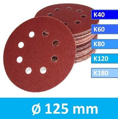 50x Klett Schleifscheiben 125mm A86 Schleifpapier für Tellerschleifer Teller