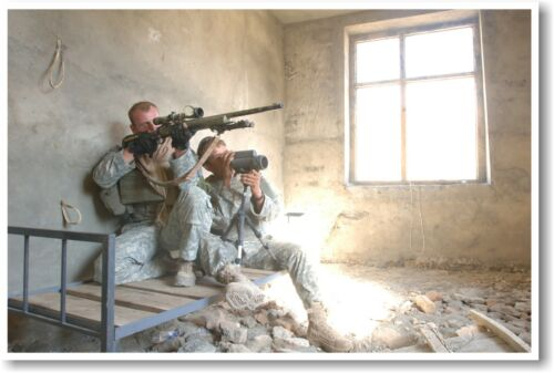 Army Sniper Team NEW Military Poster