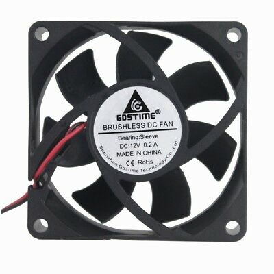10PCS Gdstime 3Pin 75mm DC12V 75x75x15mm For Graphics Card Cooler Cooling Fan