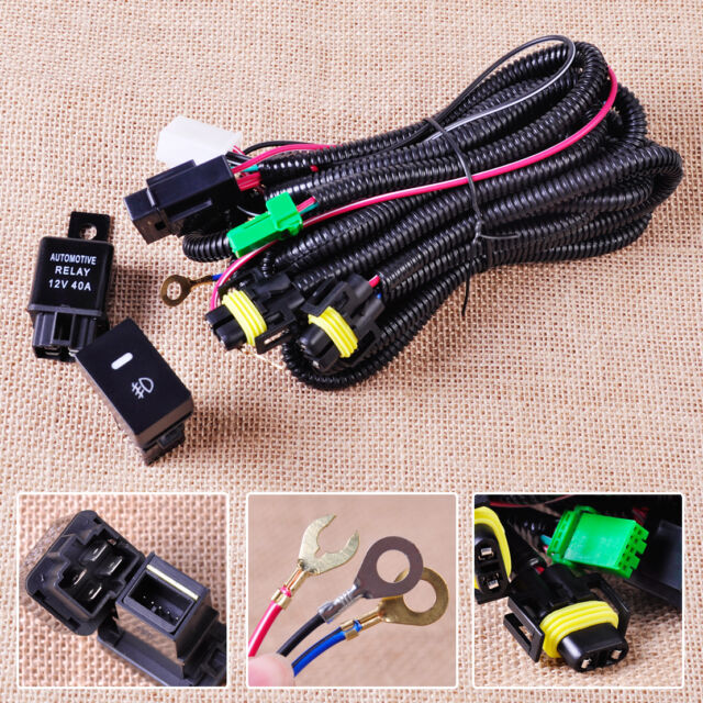 wiring harness sockets switch relay for h11 fog light ford focus acura nissan 2005 F250 Fog Light Kit with Harness