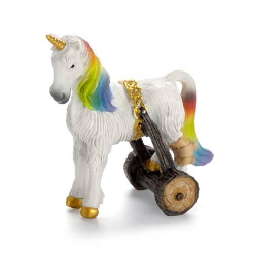 Cloud The Unicorn With Crutch Miniature Dollhouse FAIRY GARDEN Accessories