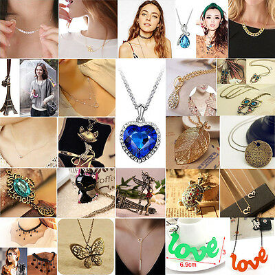 All $1 Fashion Charm Jewelry Chain Pendant Crystal Choker Statement Bib Necklace