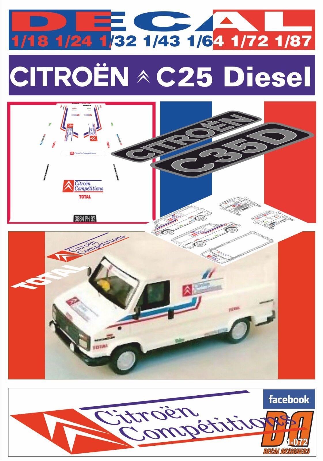 DECAL CITROEN CITROEN CITROEN C25D ASSISTANCE CITROEN COMPETITIONS 1988 (07) fa01c4