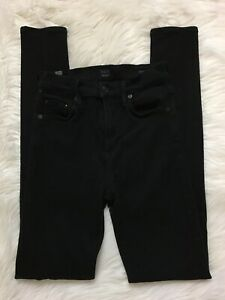 Citizens-Of-Humanity-Rocket-High-Rise-Skinny-Jeans-Sz-25-Black-Stretchy