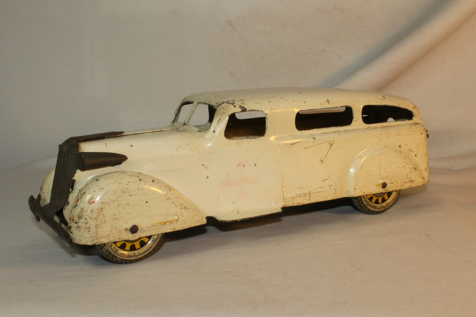 Wyandotte, 1930's Ambulance with Tin Artillery Spoked Wheels,  Original