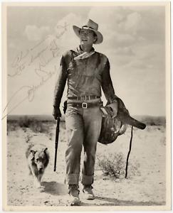 John Wayne signed autographed 8x10 photo! Hondo! True Grit! RARE!  Reprint