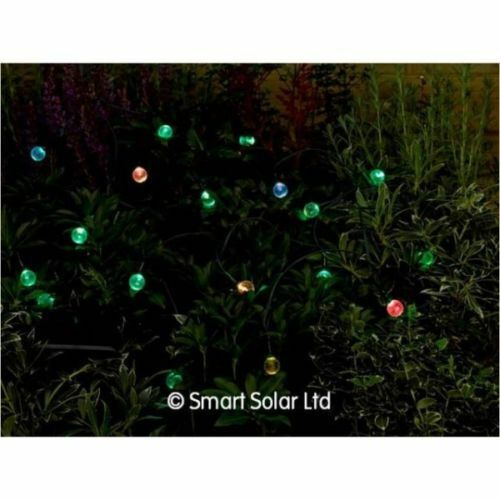 Night Glowing Garden Smart Solar Crystal Ball Light String with 20 Shining LED/'s