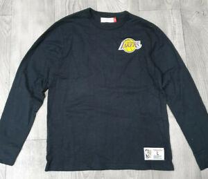 Los-Angeles-Lakers-NBA-Crewneck-Long-Sleeve-T-Shirt-Mitchell-amp-Ness-Size-Large