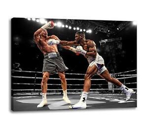 Anthony-Joshua-Leinen-Vs-Klitschko-Boxen-Fitness-Foto-Poster-Leinen-30x20