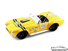 1965 Shelby Cobra 427 Maisto CUSTOM SHOP Diecast 1:24 Scale Yellow FREE SHIPPING