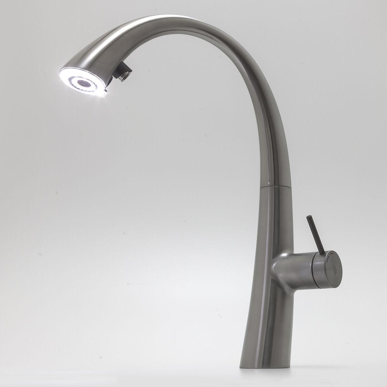 KWC ZOE Decor Steel 10.201.122.127FL Armatur LED Auszugsbrause Küchenarmatur