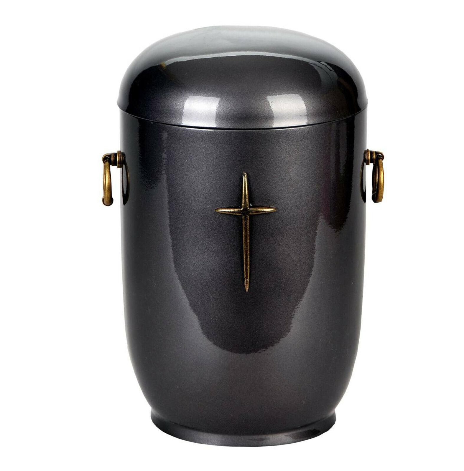 Composite Cendres Crémation Urne avec Croix Catholique .funeral Mémorial Adulte