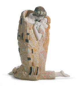 Lladro-The-Kiss-Pareja-Figura-18204-Marca-Punta-Gustav-Klimt-Grande-Save-F