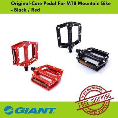 Giant1 Original Core MTB Mountain Bike Bicycle Pedal Black Red