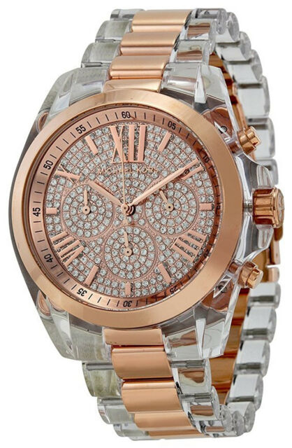 ebe5f4ae3 Michael Kors MK5905 Rose Gold Dial Resin Strap Chronograph Women's Watch