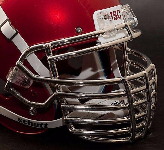 Schutt Super Pro BIG GRILL 1.0 Football Helmet Facemask - CHROME