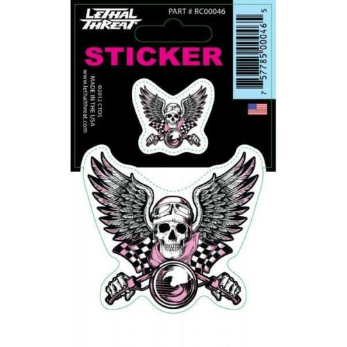 Lethal Threat Sticker Decal Anywhere Motorbike Helmet Boards Tablet IPad RC00046