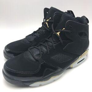 2b50ca31e7e5f2 Nike Jordan FLIGHT CLUB  91 Men Basketball Black Metallic Gold-White ...