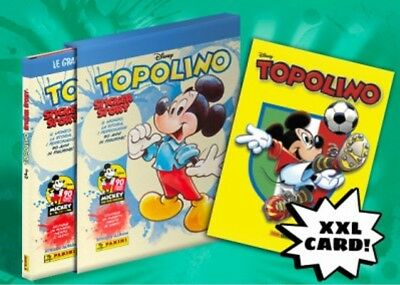 Set CARDS-Figurine-Stickers COMPLETO TOPOLINO STORY Panini 2018 Album VUOTO