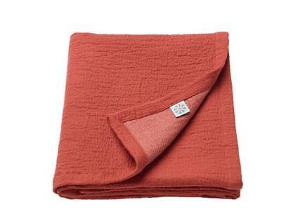100/% cotton 85x115 cm UK-B786 Ikea Blanket TILLGIVEN Dark red Baby blanket