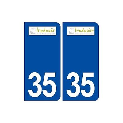 35 Irodouër Logo Autocollant Plaque Stickers Ville Droits
