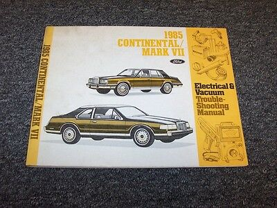 1985 Lincoln Continental & Mark VII 7 Electrical Wiring ...