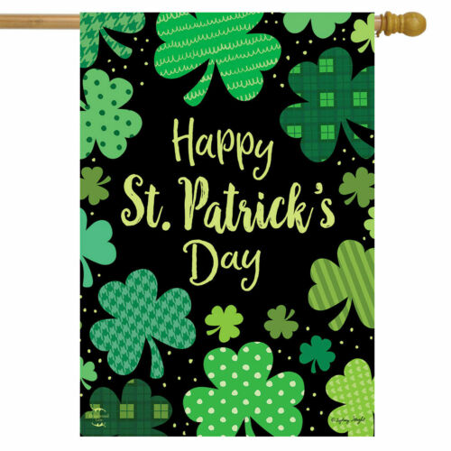 F78 HAPPY ST PATRICK/'S DAY SHAMROCKS IRISH CLOVER PATS  HOUSE FLAG 28X40 BANNER