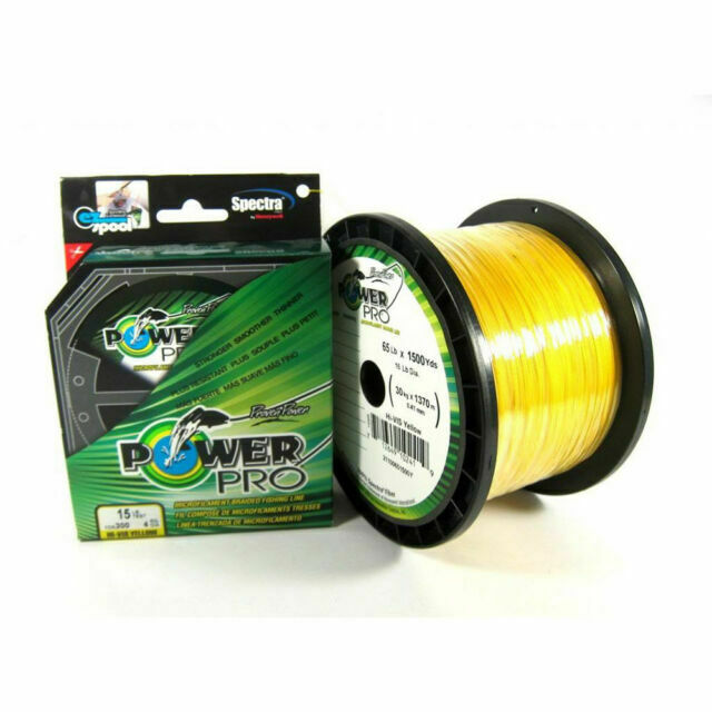 Power Pro Micro Braid Fishing Line 21100400150Y 40 LB X 150 Yd Yellow for sale online