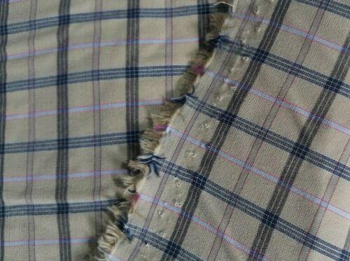 Tejido elástico de polialgodón Camisa a Cuadros 2 Colores-vendido por el medidor