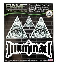 Illuminati All Seeing Eye Lifestyle Decal Kit Includes 4 Premium Stickers