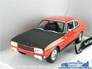 FORD-CAPRI-auto-modello-MK1-Rosso-amp-Nero-Scala-1-43-Cararama-emissione-251XND-anni-1960-K8Q