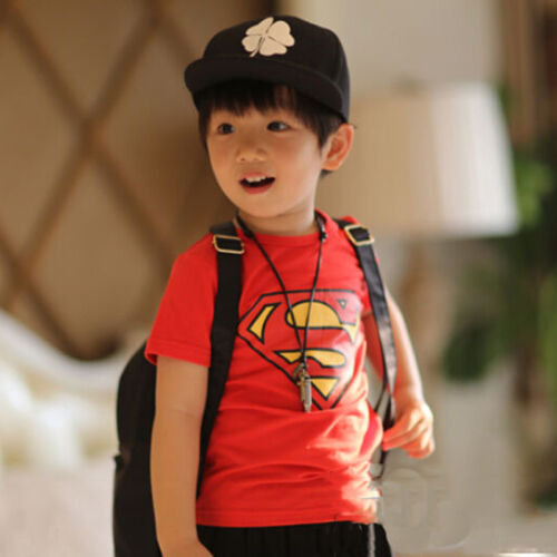 Kids Boys Superhero Spiderman Batman Hoodie Sweatshirts Tracksuit Set Nightwear