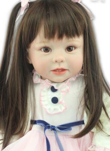 Handcrafted Reborn Toddler Dolls 28 inch Pretty Reborn Baby Dolls Adorable Girls