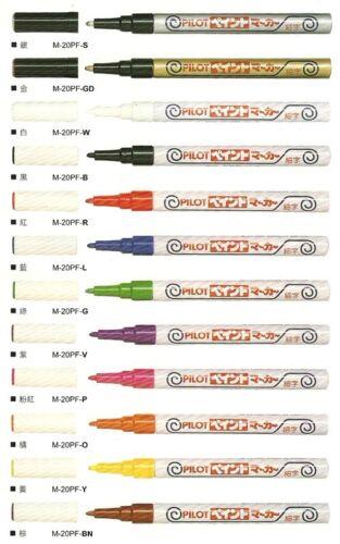 3 x Pilot Colorful M-20PF 1.0mm Fine Tip Paint Oil Based Marker 12 Colors