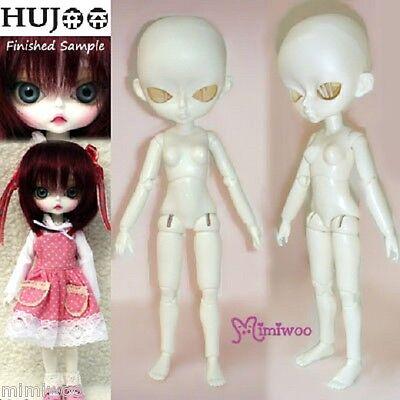 Hujoo Girl 24cm Bjd Doll Dollfie Open Eye White Skin Body ~~~ FREE S&H ~~~