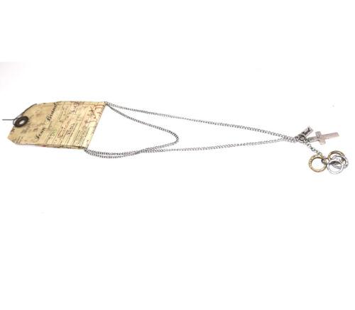 Icône de la marque Croix collier pendentif cadeau de Noël pour hommes