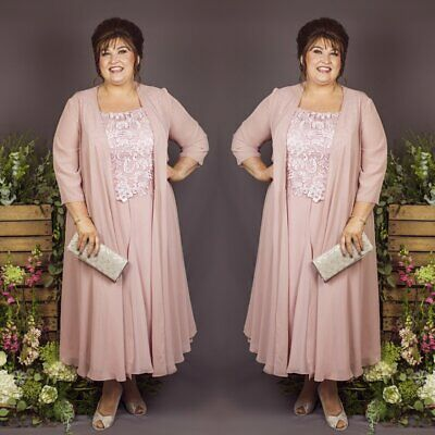 Plus Size Mother Of The Bride Dresses Suits Chiffon Jackets Outfits UK20 22  24+   eBay