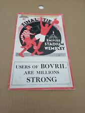 Portsmouth v Manchester City FA Cup Final Football Programme 1934