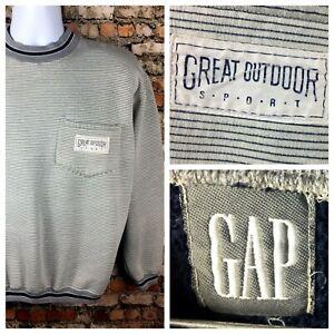 Vintage-80s-90s-GAP-Great-Outdoor-Sport-Crewneck-Stripe-Sweatshirt-Small-Hip-Hop