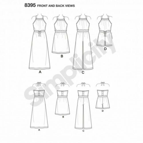 Child/'s Girls Halter Dress Romper Simplicity Sewing Pattern 8395